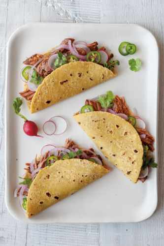 Slow-Cooker Chili-Rubbed Brisket Tacos