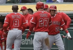Kinsler leads beat-up Angels past A's to end four-game skid