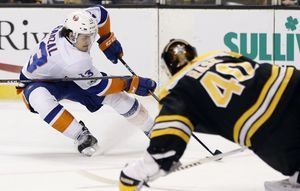 Goals by Marchand, DeBrusk lead Bruins past Islanders 3-1