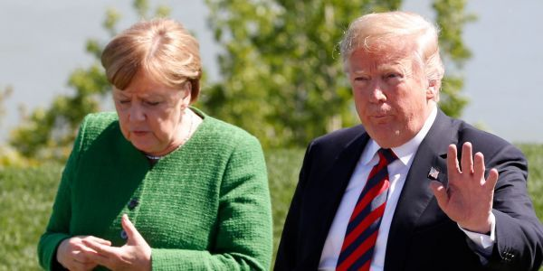 Trump reportedly thew Starburst on a table before Germany's Angela Merkel at the G7 summit and said, 'Don't say I never give you anything'