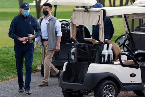 Biden hits the links for first golf outing of his presidency