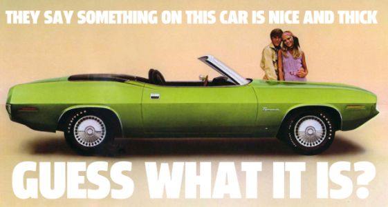 This 1970 Plymouth Barracuda Brochure Makes One Of The Weirdest Claims I've Seen
