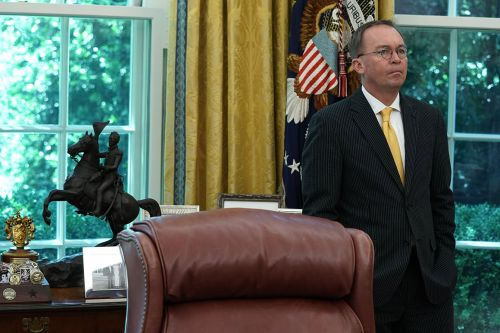 White House preps for impeachment show with an awkward chief-of-staff sideshow