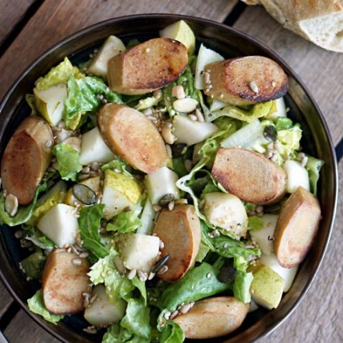 Salad with Pear and Bratwurst