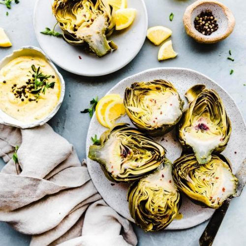 Steamed Artichoke with Aioli