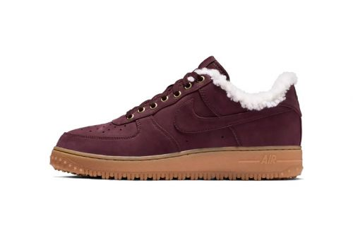"""Nike Air Force 1 Premium Winter """"Burgundy"""" Gears Up for the Next Storm"""