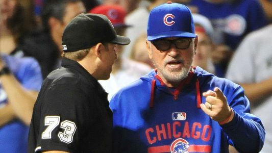 MLB playoffs: Cubs' Joe Maddon ejected after umpires reverse controversial call