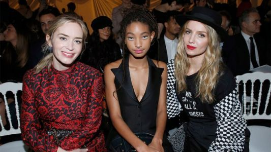 Willow Smith Attends Paris Fashion Week in the Coolest Eyeliner Look