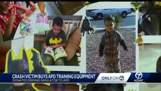 Mom in fatal crash with officer donates equipment to APD