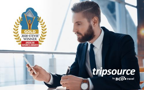BCD Travel honored as Gold Stevie® Award winner for best travel app