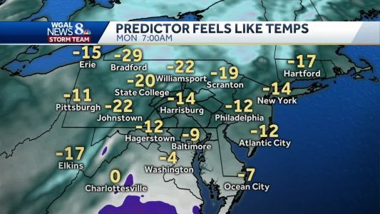 Bitter cold wind chills are on the way
