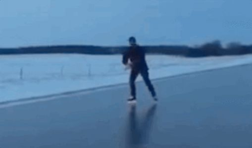 Man Stops His Truck And Decides To Go For A Skate On The Highway