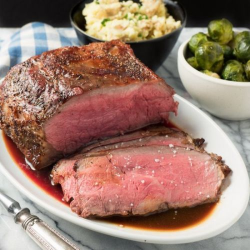 Roast beef with demi-glace