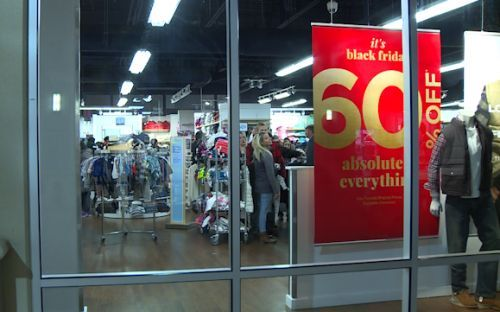 Thanksgiving shoppers flood stores for Black Friday sales