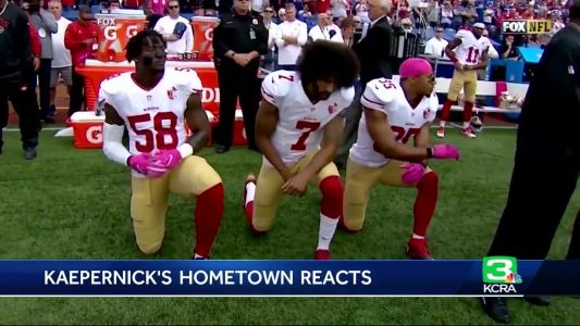Turlock reacts to new NFL kneeling rules, Kaepernick