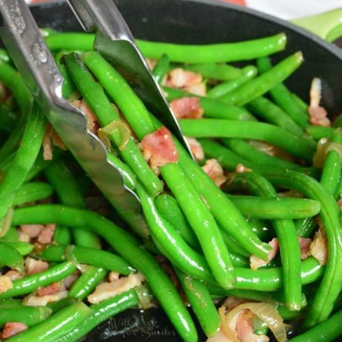 Green Bean with Bacon and Onions