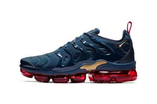 Nike's New Air VaporMax Plus Dons Cool Blue, Red & Gold Colorway