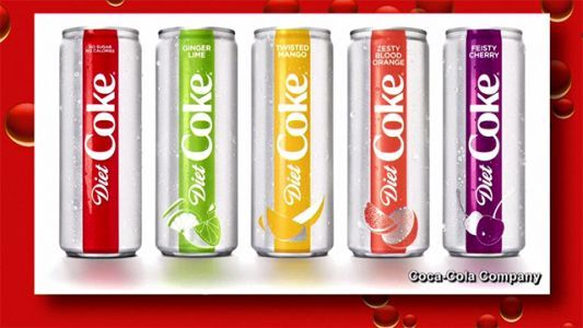 Diet Coke unveils can makeover, 4 new flavors