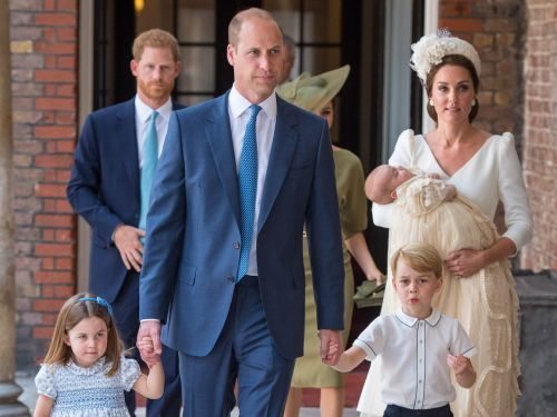 Princess Charlotte upstaged Prince Louis at his christening by greeting crowds with a royal wave