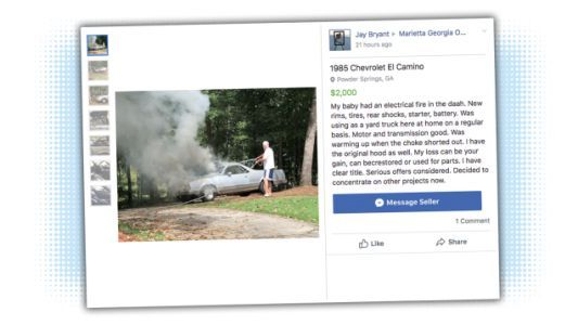 Someone Understands the Importance of Using Just the Right Picture When Selling a Car