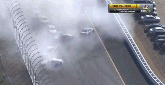 Five Of NASCAR's Playoff Drivers Involved In Crazy Wreck Where No One Could See