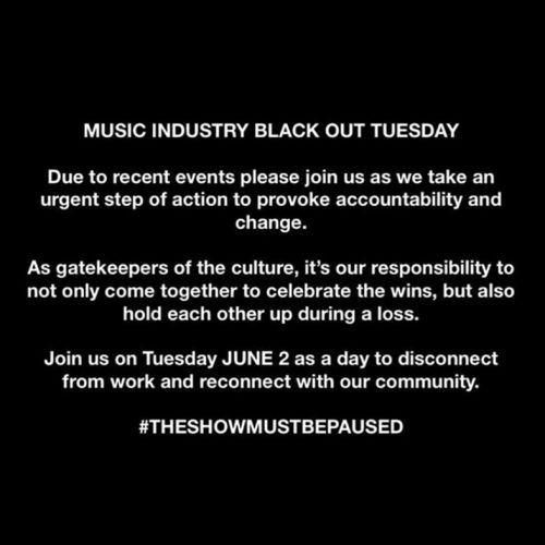 Black Out Tuesday: music industry to go silent in protest for George Floyd