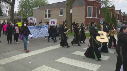 'We just want to breath': Little Village protest marks anniversary of botched coal plant demolition
