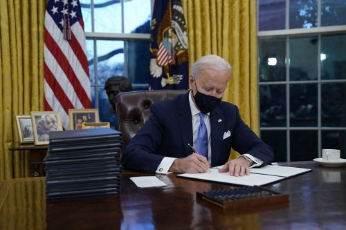 Biden signs spate of executive orders
