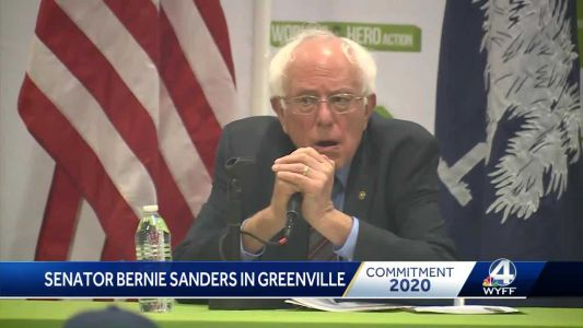 Presidential candidate Bernie Sanders campaigns in the Upstate
