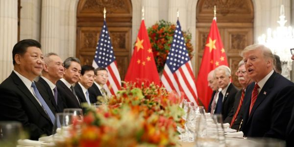 Trump and Chinese President Xi Jinping are about to have a formal dinner to try and end the trade war - here's what's on the menu