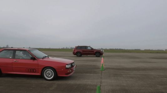 Jeep Grand Cherokee Trackhawk Races TVR and Audi Quattro for Some Reason in Jeep Ad
