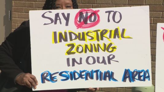 Homewood residents protest potential trucking center at site of former country club