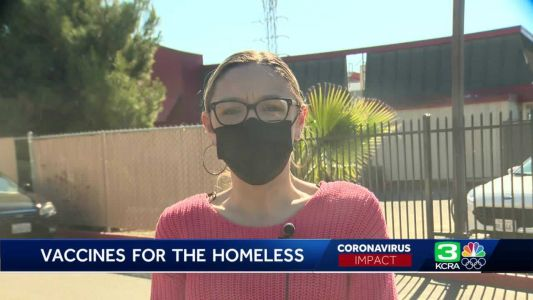 Mobile COVID-19 vaccine clinic for homeless people sets up in Stockton