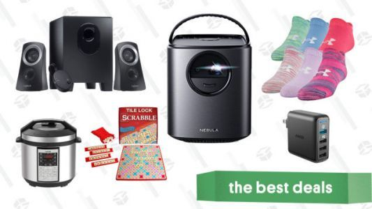 Saturday's Best Deals: Anker Nebula Projectors, Speakers, Basic Apparel, and More