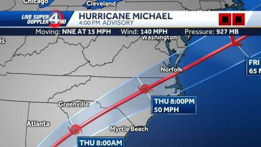SC Governor: Michael is no Florence, but still poses risks to state