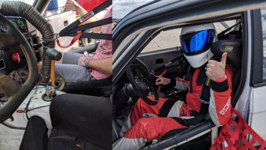 Spec BMW E30 Racer Replaces Broken Shifter With a Rubber Mallet, Wins