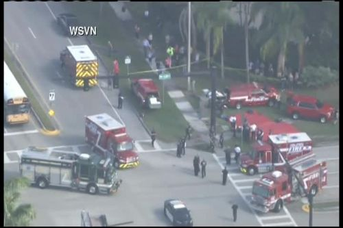 There's been a shooting at a high school in Parkland, Florida