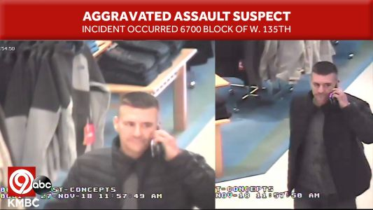 Overland Park Police searching for theft, aggravated assault suspect