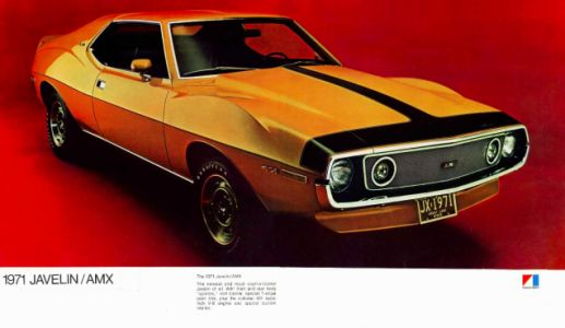 """The second-generation AMC Javelin was called the """"Humster"""" for its enormously arched front fenders"""