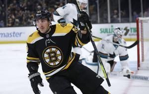 Marchand has goal, 2 assists as Bruins beat Sharks 4-1