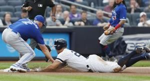 Yankees' Stanton out of lineup, 'probably' going to London