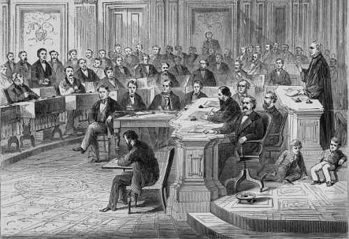 Today in History for May 26: President Andrew Johnson avoids impeachment by one vote