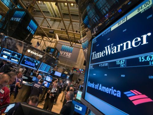Time Warner is falling on reports that selling CNN would be a prerequisite to its merger with AT&T