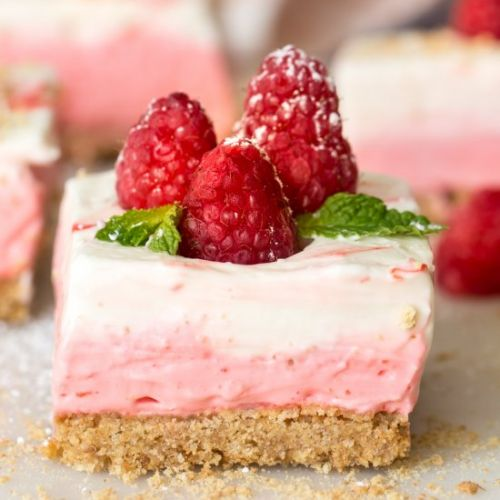 Layered No Bake Cheesecake Bars