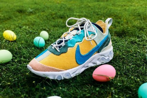 "XYLAR Studio Customizes the Nike React Element 87 in ""Easter Corduroy"""