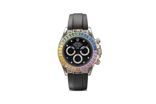 MAD Paris Crafts $110K USD Rolex Daytona Rainbow Sapphire Watch With Ornate Floral Details