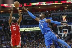 Thunder blast Rockets by 18 without Russell Westbrook, grab seventh straight win