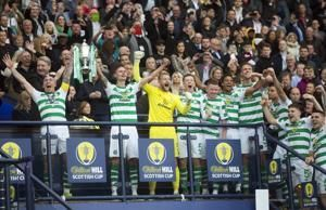 Celtic beats Hearts in Cup final to win 'triple treble'