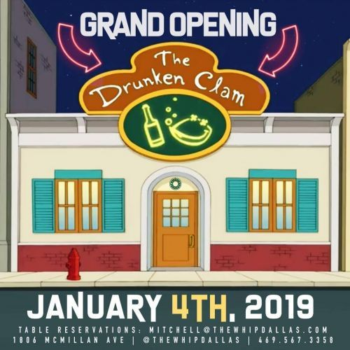 The Drunken Clam Opens Dallas Pop-Up at The Whip