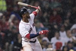 Bogaerts homers, Red Sox beat White Sox 6-3 in rain